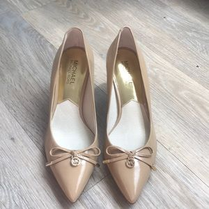 NEW Michael Kors Leather Nude Pumps Sz 7